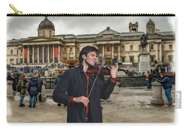 Street Music. Violin. Trafalgar Square. Carry-all Pouch