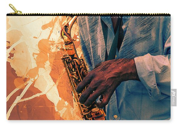 Street Sax Player Carry-all Pouch
