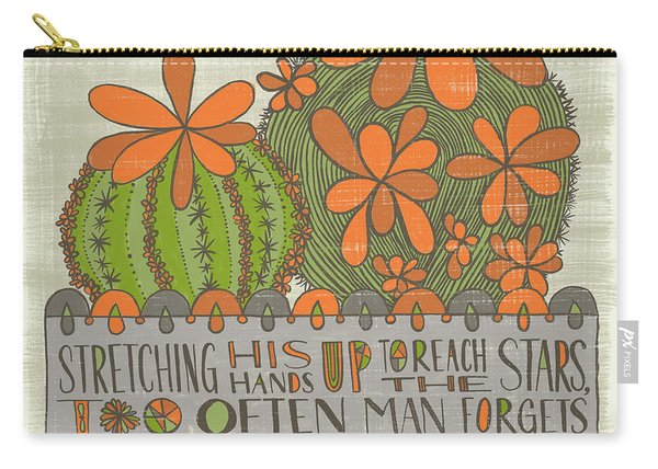 Stretching His Hands Up To Reach The Stars Too Often Man Forgets The Flowers At His Feet Jeremy Bent Carry-all Pouch