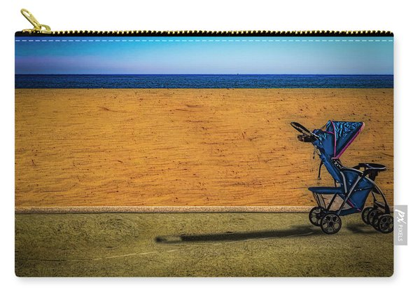 Stroller At The Beach Carry-all Pouch