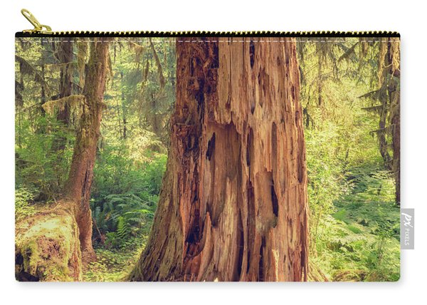 Stump In The Rainforest Carry-all Pouch