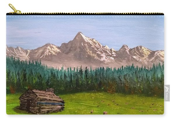 Carry-all Pouch featuring the painting Stump by Kevin Daly