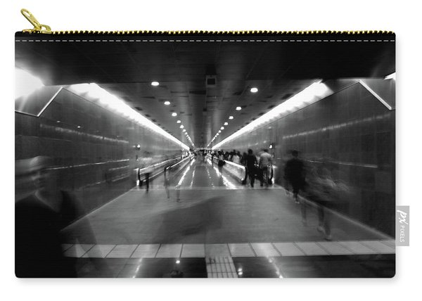 Carry-all Pouch featuring the photograph Subway Ghosts by Edward Lee