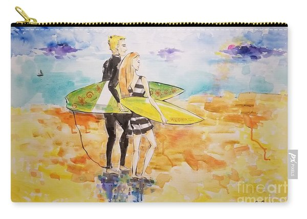 Surfer Couple Carry-all Pouch