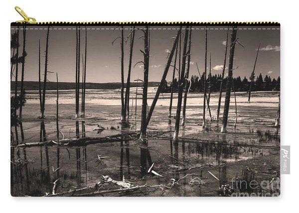 Carry-all Pouch featuring the photograph Sulfur Field by Mae Wertz