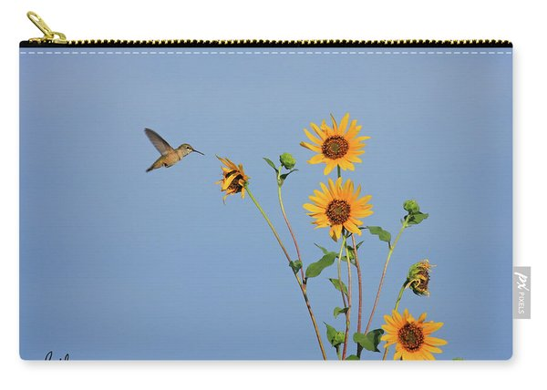 Summer Day Hummingbird Carry-all Pouch