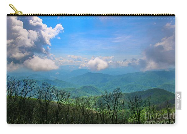 Carry-all Pouch featuring the photograph Summer Mountain View by Tom Claud