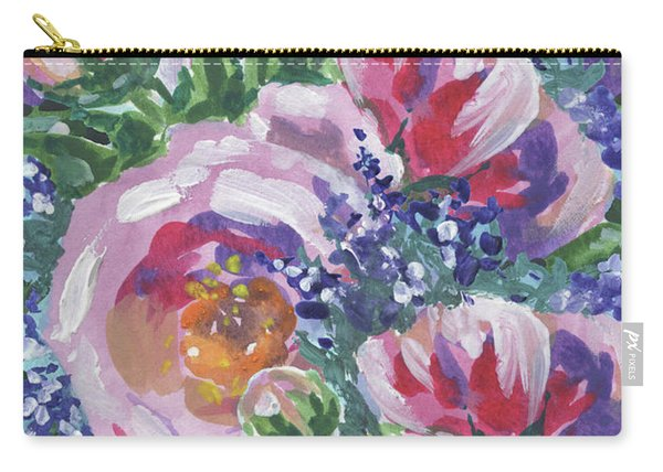 Summer Pattern Flowers Bouquet Floral Impressionism  Carry-all Pouch