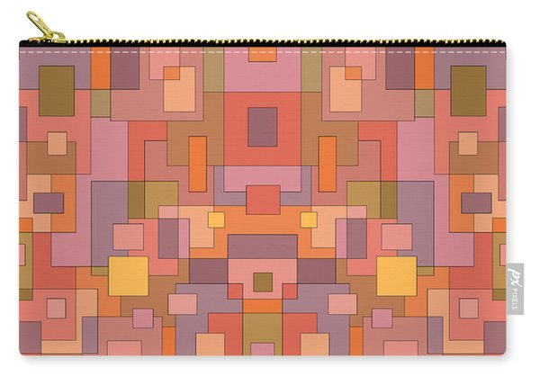 Summer Peach Abstract Carry-all Pouch