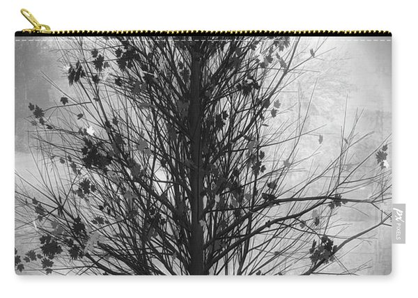 Summer Tree In Black And White Carry-all Pouch
