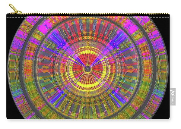 Carry-all Pouch featuring the digital art Sun 02112019 by Visual Artist Frank Bonilla