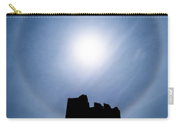 Sun Halo Over Aberystwyth Castle Tower Carry-all Pouch