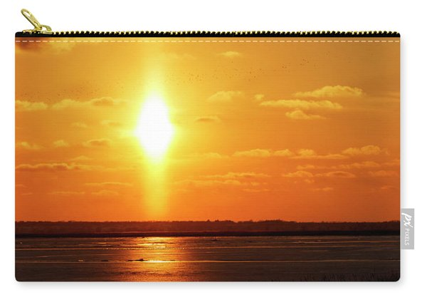 Carry-all Pouch featuring the photograph Sun Pillar 01 by Rob Graham