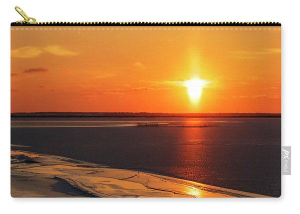 Carry-all Pouch featuring the photograph Sun Pillar 02 by Rob Graham