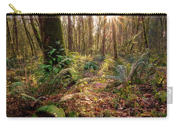 Carry-all Pouch featuring the photograph Sun Star In Tryon Creek State Park by Whitney Goodey