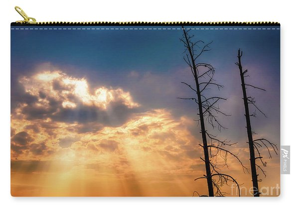 Carry-all Pouch featuring the photograph Sunbeams by Dheeraj Mutha