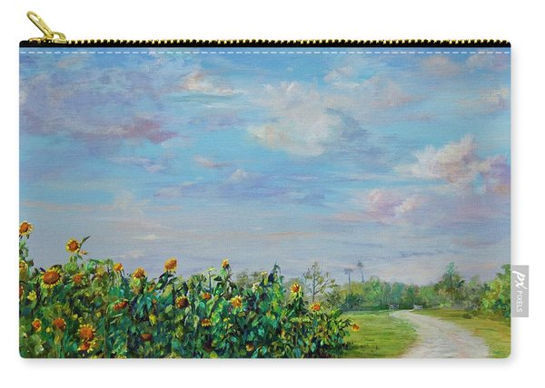 Sunflower Field Ptg Carry-all Pouch