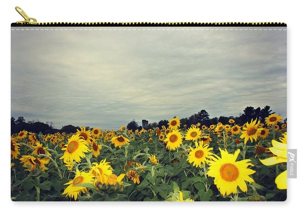 Carry-all Pouch featuring the photograph Sunflower Fields by Candice Trimble