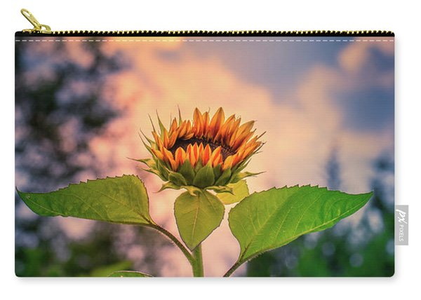 Sunflower Opening To The Light Carry-all Pouch