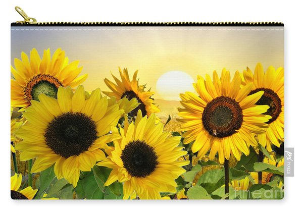 Sunflowers And Sunshine Carry-all Pouch