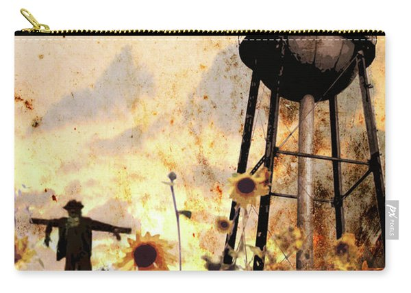 Sunflowers At Dusk Carry-all Pouch