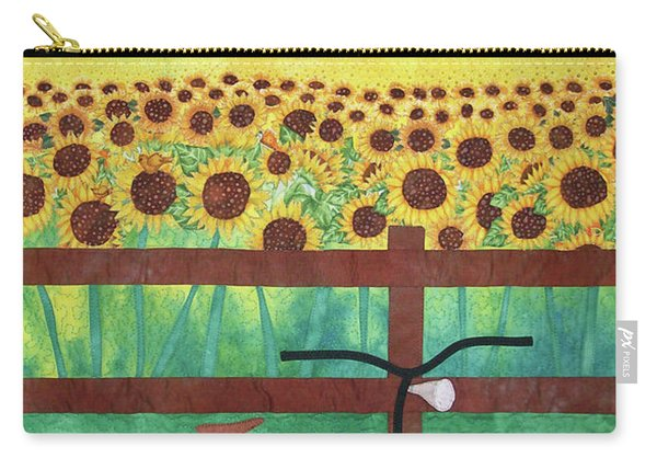 Sunflowers At Whitehall Farm Carry-all Pouch