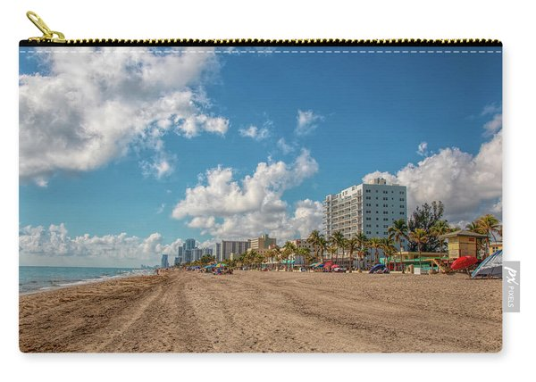 Sunny Day At Hollywood Beach Carry-all Pouch