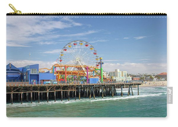 Sunny Day On The Santa Monica Pier Carry-all Pouch