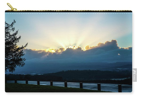 Sunrise At Astoria Column Carry-all Pouch