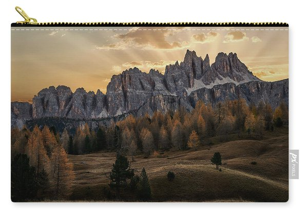 Sunrise In The Dolomites Carry-all Pouch