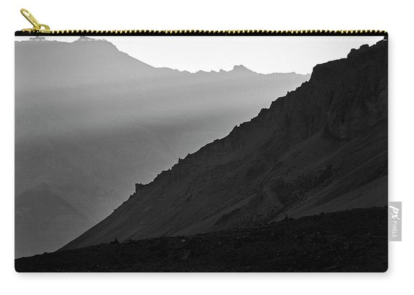 Carry-all Pouch featuring the photograph Sunrise In The Himalayas by Whitney Goodey