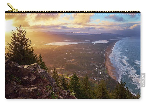 Carry-all Pouch featuring the photograph Sunrise On Neahkahnie by Whitney Goodey