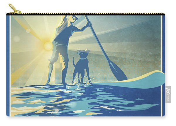 Sunrise Paddle Boarder Carry-all Pouch