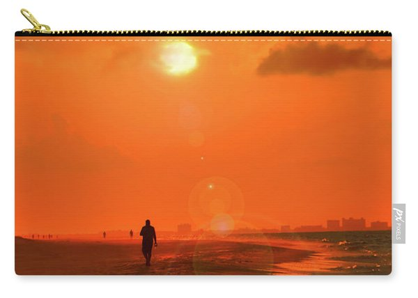 Sunrise Walk On Sanibel Island Carry-all Pouch