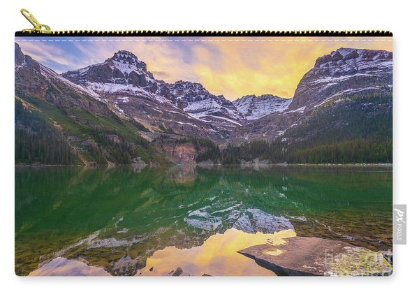 Sunrise Wiwaxy Peaks And Mount Huber Above Lake Ohara Carry-all Pouch