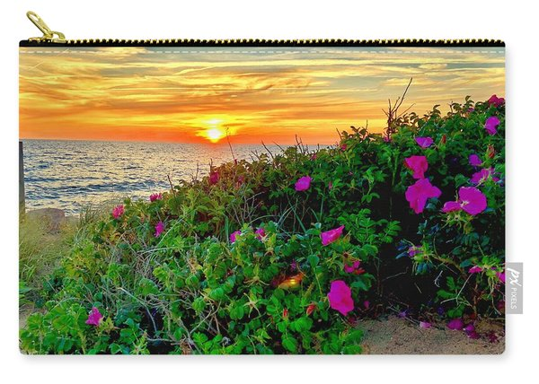 Sunset At Campground Beach  Carry-all Pouch