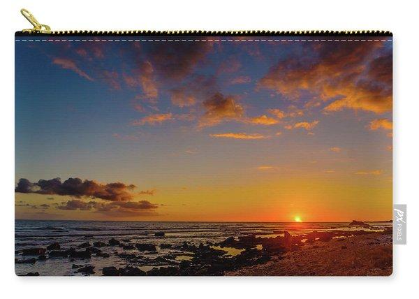 Sunset At Kailua Beach Carry-all Pouch