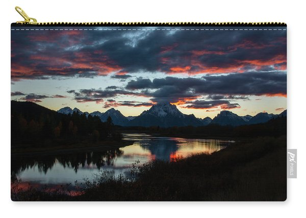 Sunset At Oxbow Bend Carry-all Pouch