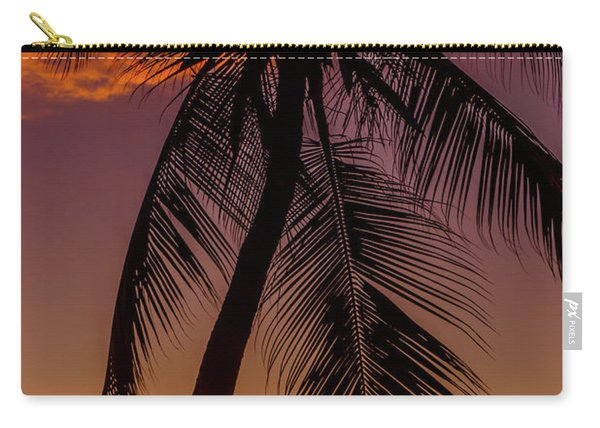 Sunset At The Palm Carry-all Pouch