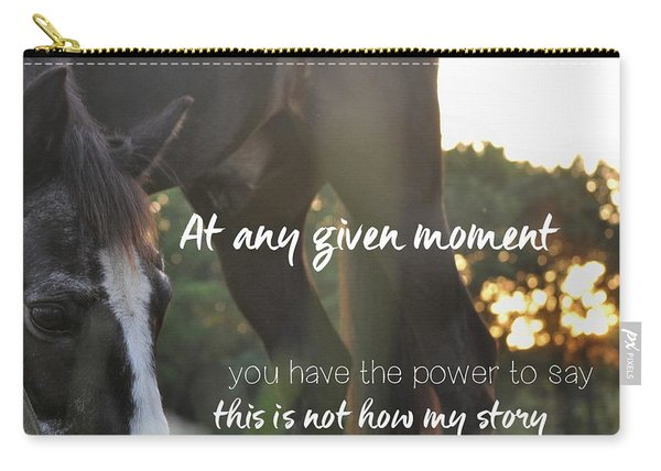 Sunset Grazing Quote Carry-all Pouch