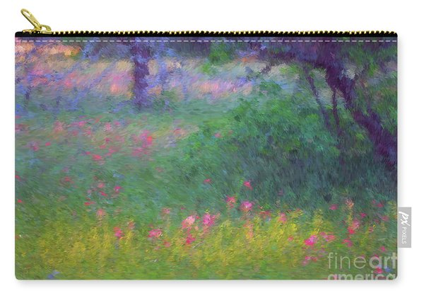 Sunset In Flower Meadow Carry-all Pouch