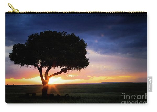 Sunset In The Masai Mara Carry-all Pouch