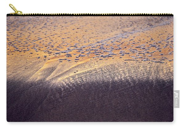 Carry-all Pouch featuring the photograph Sunset In The Sand by Whitney Goodey