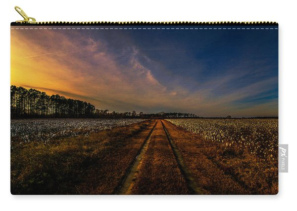 Sunset In The Twin Fields Carry-all Pouch