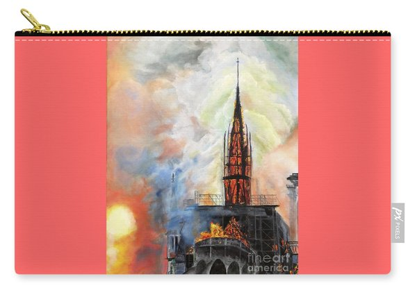 Sunset On Notre Dame Carry-all Pouch