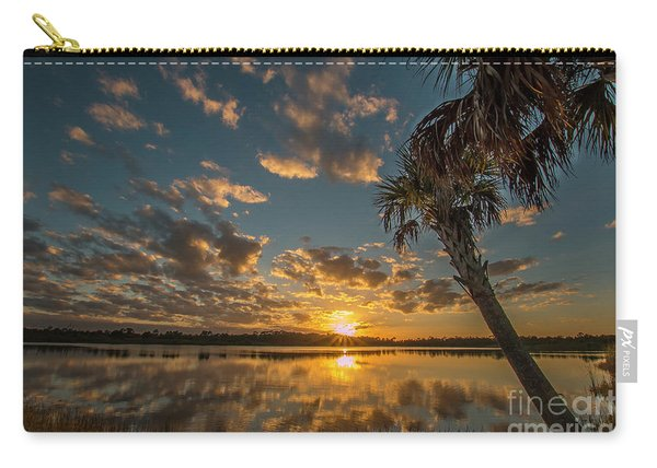 Carry-all Pouch featuring the photograph Sunset On The Pond by Tom Claud