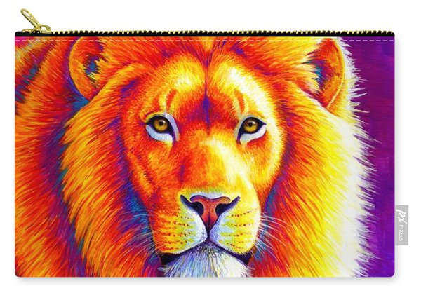 Sunset On The Savanna - African Lion Carry-all Pouch
