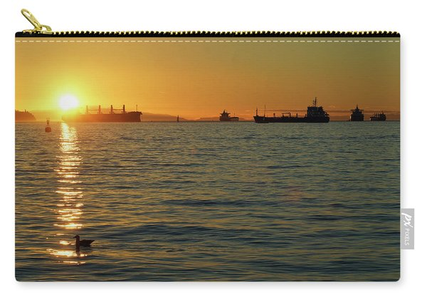 Sunset Over English Bay Carry-all Pouch