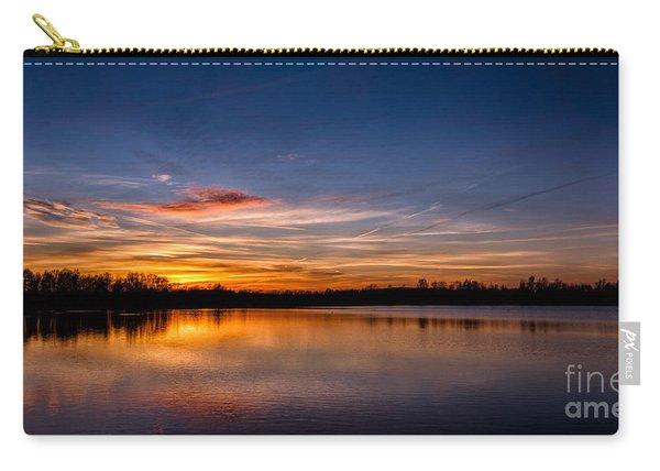 Sunset Over Laupheim Quarry Carry-all Pouch