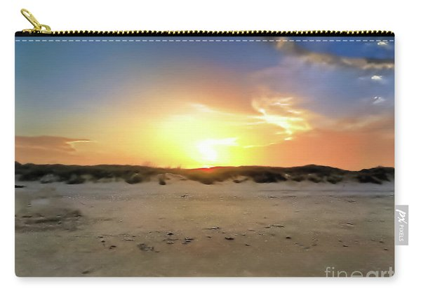 Sunset Over N Padre Island Beach Carry-all Pouch